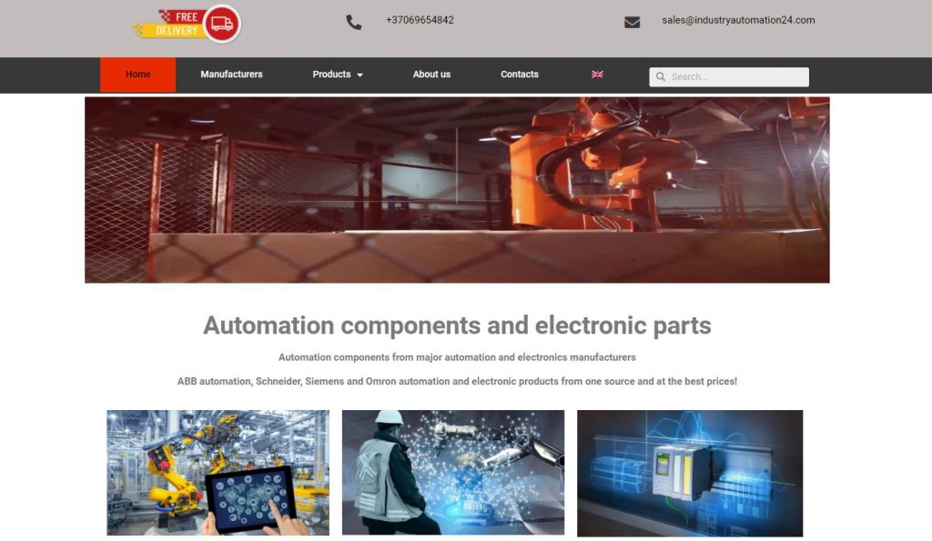 Industry Automation e-parduotuvė